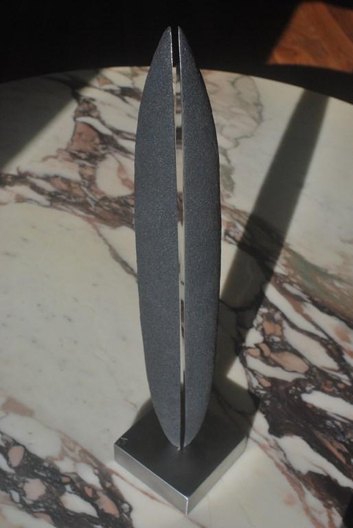 8.Sculpture-fer-limaille-de-fer-acier-inox-poli-miroir-Felix-Valdelievre-42-cm-2019