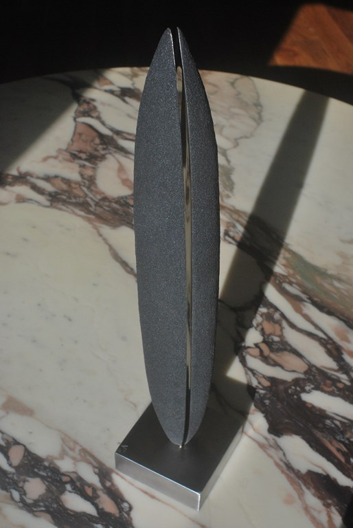 9.Sculpture-fer-limaille-de-fer-acier-inox-poli-miroir-Felix-Valdelievre-42-cm-2019