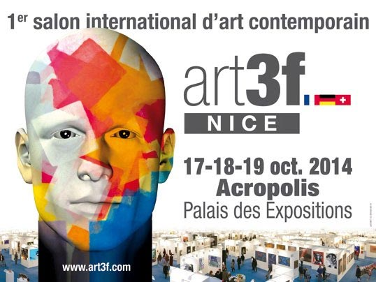 Affiche Art3f, pour le premier salon international d'art contemporain de la ville de Nice.