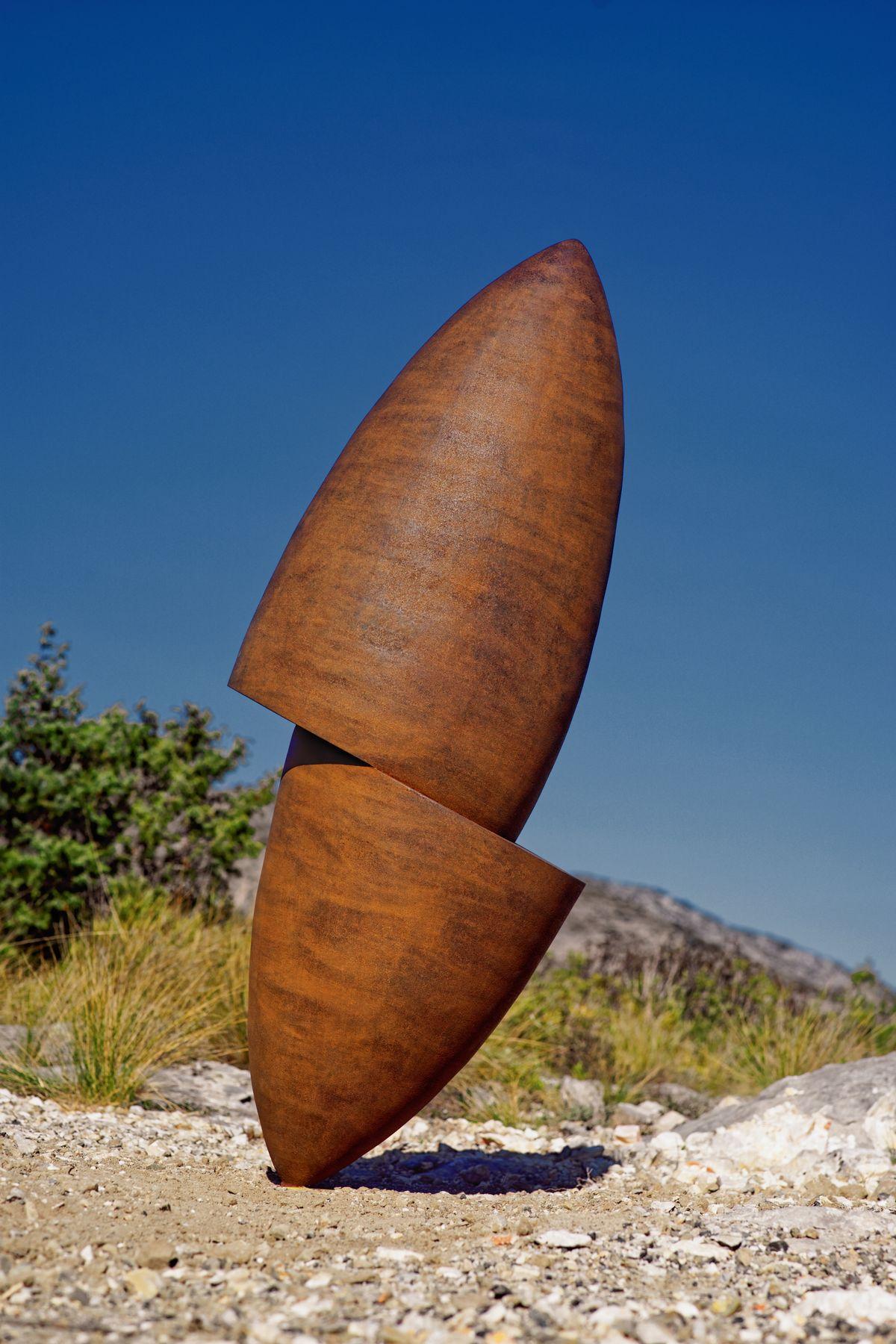 2.Sculpture-acier-corten-hauteur:120cm-2016