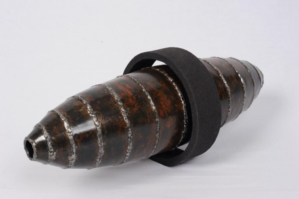 Sculpture-fer-patine-verni-limaille-de-fer-longueur:48cm-artiste-sculpteur-contemporain-Felix-Valdelievre-2011