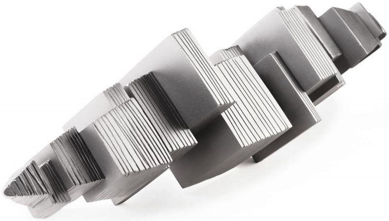 Sculpture-inox-microbillé-longueur-87-cm-artiste-sculpteur-contemporain-Felix-Valdelievre-2018