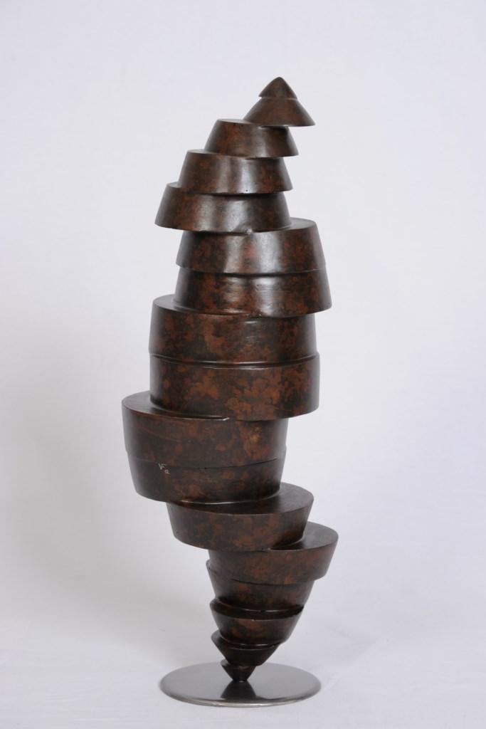 Sculpture-fer-patine-verni-hauteur:53cm-2012