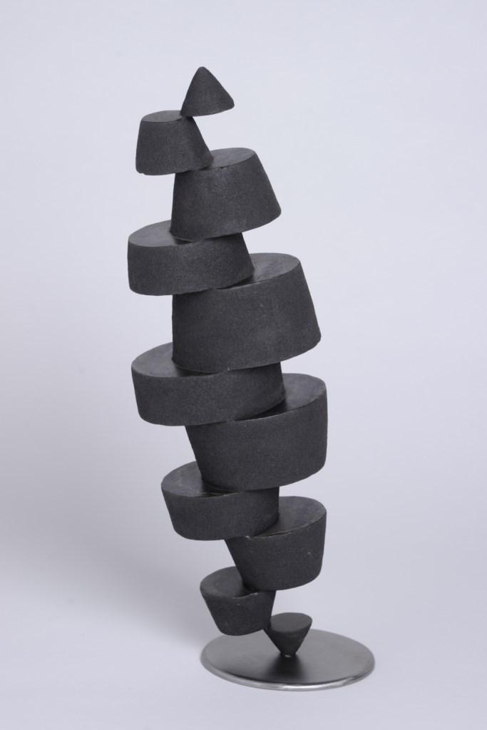 Sculpture-fer-patine-verni-limaille-de-fer-hauteur:43cm-2013