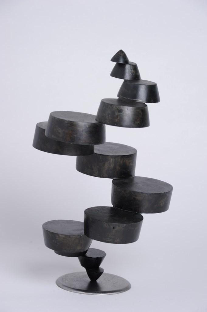 Sculpture-fer-patine-verni-hauteur:39cm-2014