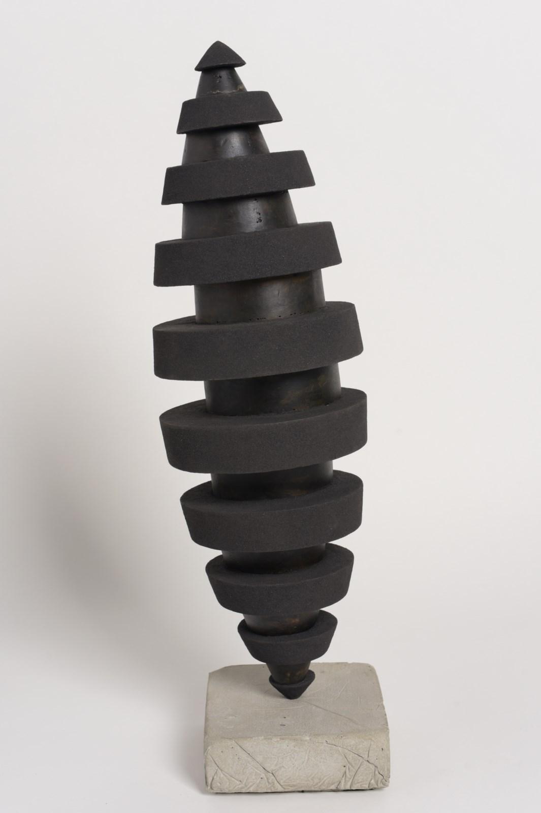 Sculpture-fer-patine-verni-limaille-de-fer-hauteur:66cm-2015