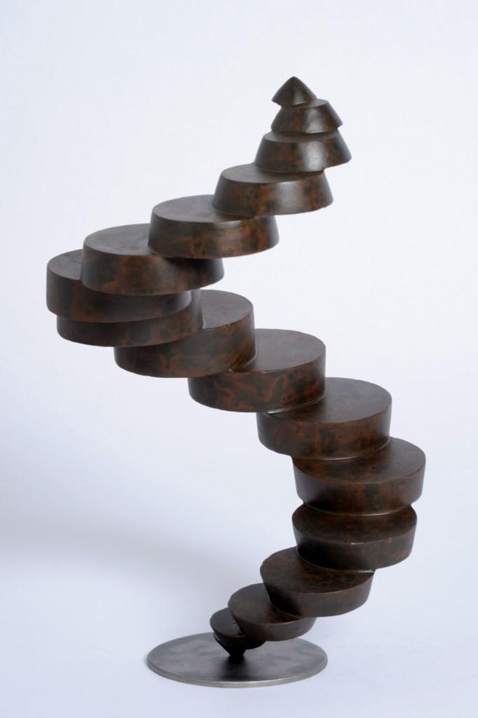 Sculpture-fer-patine-verni-hauteur:49cm-artiste-sculpteur-contemporain-Felix-Valdelievre-2013
