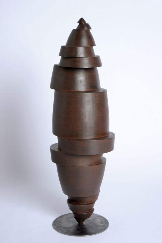 Sculpture-acier-corten-oxydé-hauteur:103cm-artiste-sculpteur-contemporain-Felix-Valdelievre-2013
