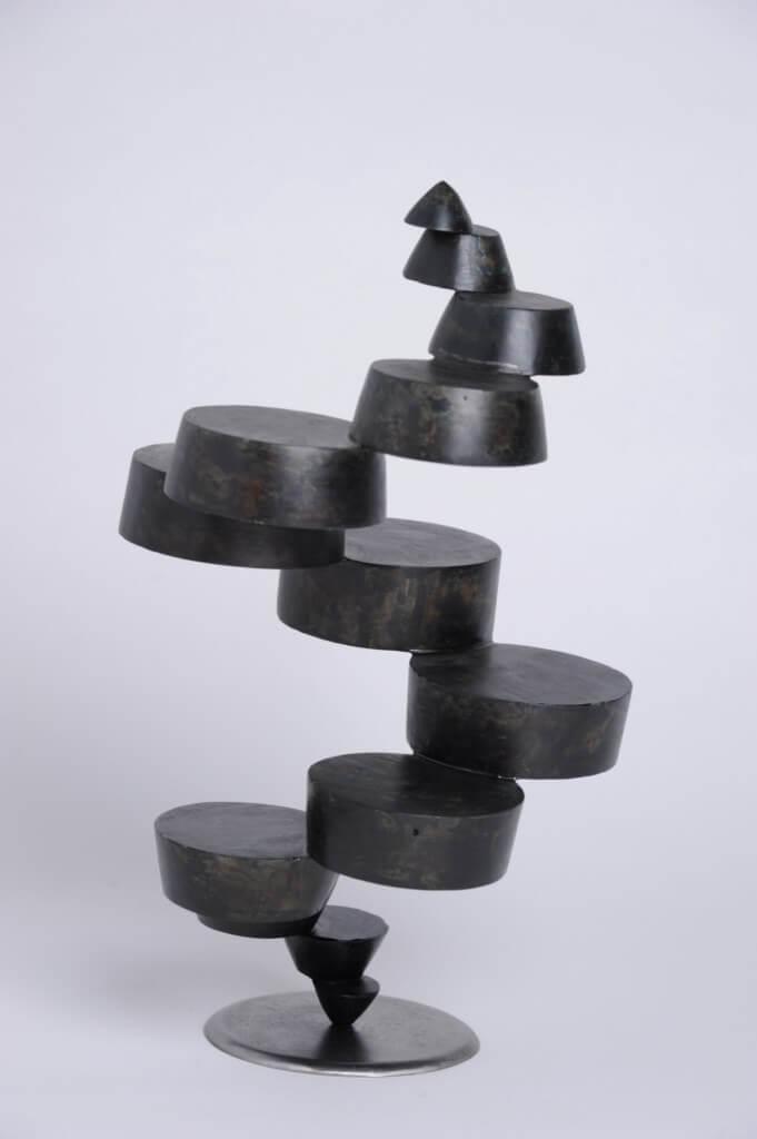 Sculpture-fer-patine-verni-hauteur:39cm-artiste-sculpteur-contemporain-Felix-Valdelievre-2014